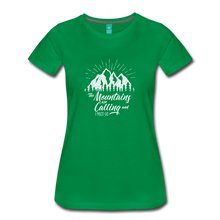 Load image into Gallery viewer, Women's Mountains T-Shirt (white) - kelly green