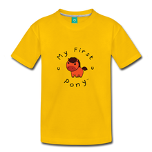 Load image into Gallery viewer, Toddler My First Pony T-Shirt (red) - sun yellow