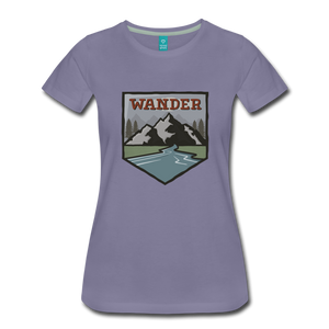 Women's Wander T-Shirt - washed violet