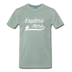 Men's Explore More T-Shirt - steel green
