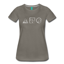 Load image into Gallery viewer, Women's Horse Symbols T-Shirt - asphalt gray