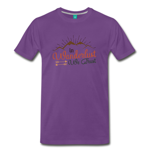 Men's Wanderlust T-Shirt - purple