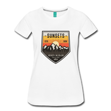 Load image into Gallery viewer, Women's Sunset T-Shirt - white