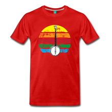Load image into Gallery viewer, Men's Banjo Rainbow T-Shirt - red