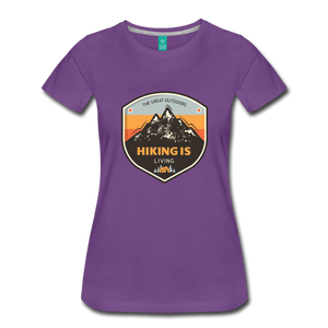 Women's Hiking T-Shirt - purple