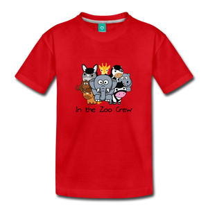 Toddler In the Zoo Crew T-Shirt - red