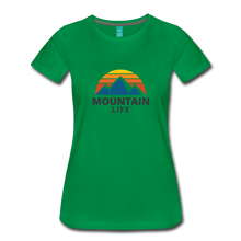 Load image into Gallery viewer, Women's Mountain Life Shirt - kelly green