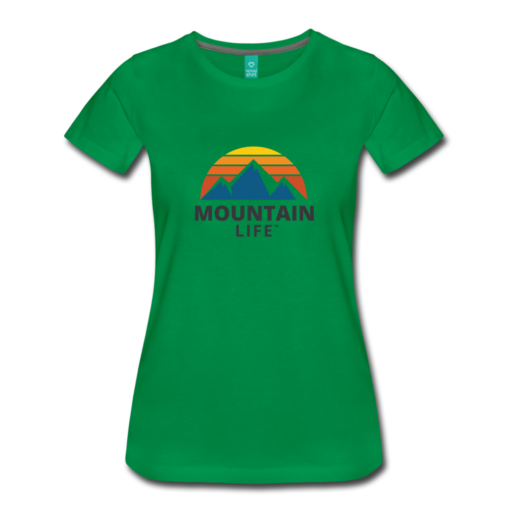 Women's Mountain Life Shirt - kelly green