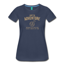 Load image into Gallery viewer, Women's Enjoy the Adventure T-Shirt - navy