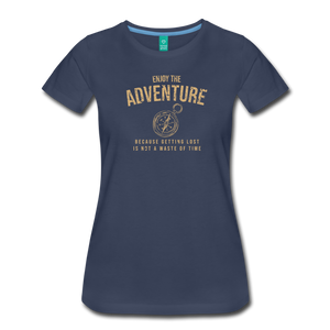 Women's Enjoy the Adventure T-Shirt - navy