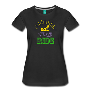 Women's Eat Sleep Ride T-Shirt - black