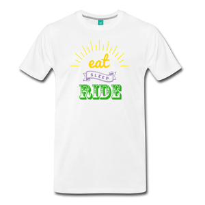 Men's Eat Sleep Ride T-Shirt - white