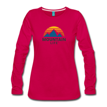 Load image into Gallery viewer, Women's Mountain Life Long Sleeve - dark pink