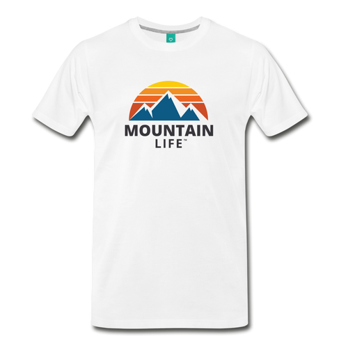 Mountain Life Shirt - white