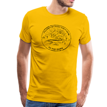 Load image into Gallery viewer, Men's Followed My Heart (distressed) T-Shirt - sun yellow