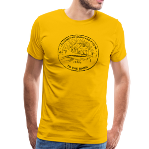 Men's Followed My Heart (distressed) T-Shirt - sun yellow