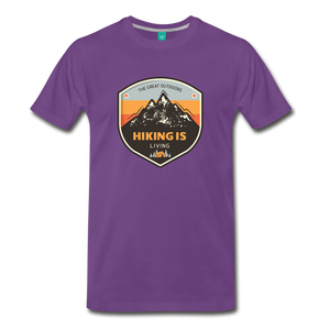 Men's Hiking T-Shirt - purple