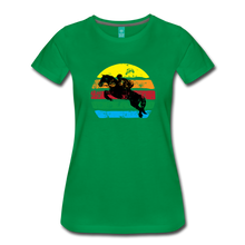 Load image into Gallery viewer, Women's Jumping Sun T-Shirt - kelly green
