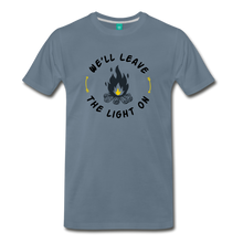 Load image into Gallery viewer, Men's We'll Leave the Light On T-Shirt - steel blue