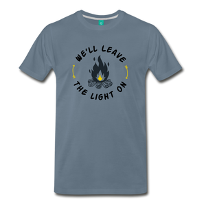 Men's We'll Leave the Light On T-Shirt - steel blue