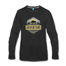 Load image into Gallery viewer, Men's Adventure Life Long Sleeve Shirt - black