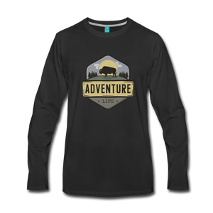Men's Adventure Life Long Sleeve Shirt - black