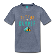 Load image into Gallery viewer, Toddler Future Camper T-Shirt - heather blue
