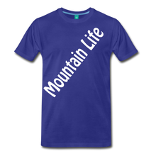 Load image into Gallery viewer, Men's Diagonal Mountain Life T-Shirt - royal blue