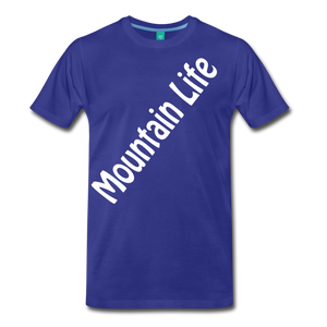 Men's Diagonal Mountain Life T-Shirt - royal blue