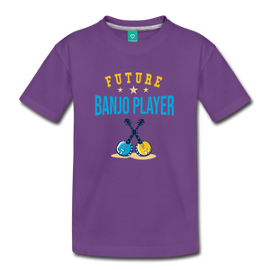 Kids' Future Banjo Player T-Shirt - purple