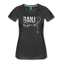 Load image into Gallery viewer, Women's Banjo Girl T-Shirt - charcoal gray