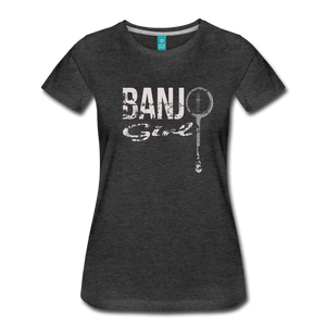 Women's Banjo Girl T-Shirt - charcoal gray