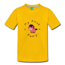 Load image into Gallery viewer, Toddler My First Pony T-Shirt (pink patch) - sun yellow