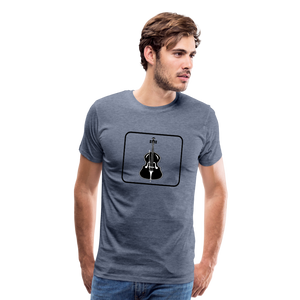 Men's Upright Bass  Icon T-Shirt - heather blue