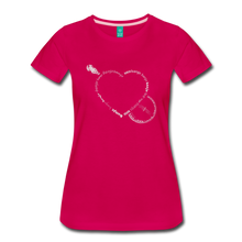 Load image into Gallery viewer, Women's Bnajo Heart T-Shirt - dark pink