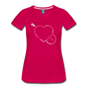 Women's Bnajo Heart T-Shirt - dark pink