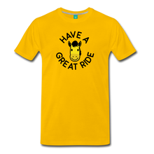 Load image into Gallery viewer, Men's Have a Great Ride T-Shirt - sun yellow