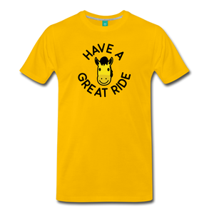Men's Have a Great Ride T-Shirt - sun yellow