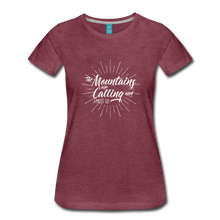 Load image into Gallery viewer, Women's Mountain Calling T-Shirt (white) - heather burgundy