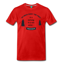 Load image into Gallery viewer, Men's Between Every Two Pines T-Shirt - red