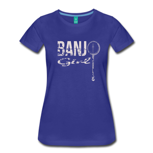 Women's Banjo Girl T-Shirt - royal blue