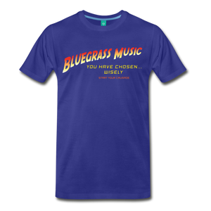 Men's Bluegrass Chosen Wisely T-Shirt - royal blue