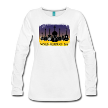 Load image into Gallery viewer, Women's Art-Deco World Bluegrass Day Long Sleeve Shirt - white