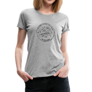 Women's Followed My Heart (distressed) T-Shirt - heather gray