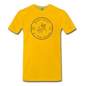 Men's Best Seat in the House T-Shirt - sun yellow