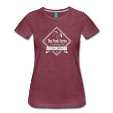 Load image into Gallery viewer, Women's The Peak Horse Diamond T-Shirt - heather burgundy