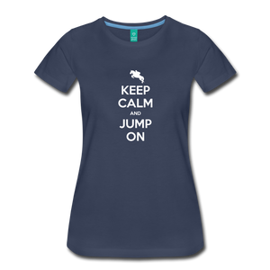 Women's Keep Calm and Jump On T-Shirt - navy