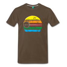 Load image into Gallery viewer, Men's Faded Banjo Rainbow T-Shirt - noble brown
