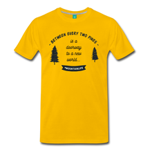 Load image into Gallery viewer, Men's Between Every Two Pines T-Shirt - sun yellow