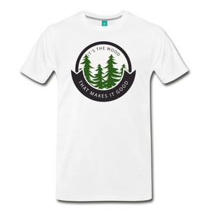 Men's Its the Wood T-Shirt - white